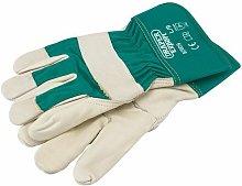 82609 Premium Leather Gardening Gloves - L - Draper