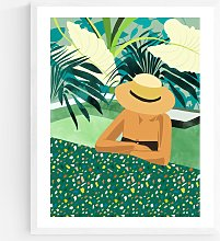 83 Oranges - Chill Wood Framed Print, 52 x 42cm,