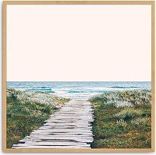 83 Oranges - Ocean Calling Wood Framed Print, 87.5