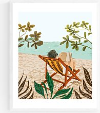 83 Oranges - Vacay Book Wood Framed Print, 52 x