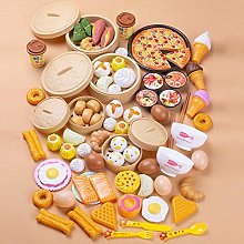 84 Pcs/Set Pretend Play Food Set Kids Cutting Toys