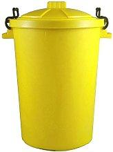 85 Litre 85L Extra Large Colour Plastic Dustbin