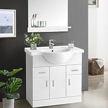 850mm Gloss White Bathroom Vanity Unit Basin Sink