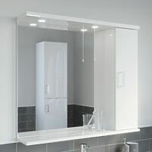 850mm Modern Bathroom Mirror Cabinet Illuminated
