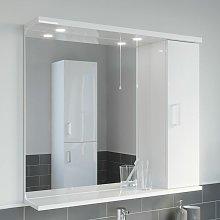 850mm Modern Bathroom Mirror Cabinet Illuminated
