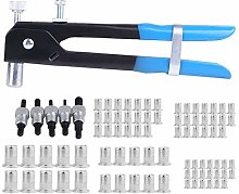 86Pcs Riveter Gun Nut Tool Kit Hand Insert Rivet
