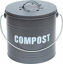 8L 8 Litre Vintage Style Galvanised Compost Food
