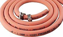 8mm Orange Gas Pipe for Propane/Butane, Stamped
