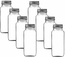 8oz 240ml Square Spice jar with Silver lids