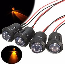 8PC 10mm Constant LED Lamp Bead 12V Pre-Wired Red