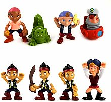 8pcs Anime Cartoon Jake and the never land Pirates
