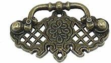 8pcs Antique Brass Cabinet Door Handles for