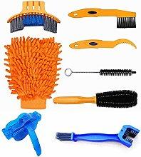 8pcs Bike Cleaning Tool Kit, Bike Chain Cleaner,