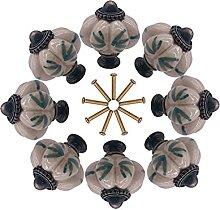 8pcs Decorative Ceramic Cupboard Door Knobs