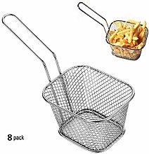 8pcs Mini Chip Baskets Kitchen Stainless Steel