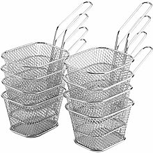 8Pcs Mini Stainless Steel Chips Deep Fry Baskets