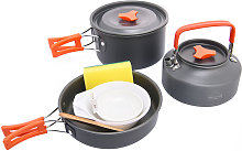 8PCS Portable Integrated Camp Cookware Handle