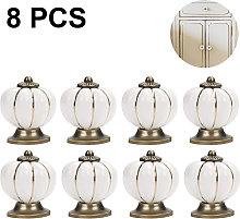 8Pcs Round Ceramic Pumpkin Cabinet and Furniture