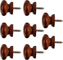 8pcs Round Wood Drawer Knobs Round Pulls Handles