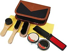 8pcs Shoe Polish Shine Brush Kit Travel Portable