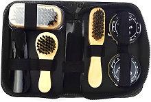 8PCS Shoe Shine Care Kit Black and Neutral Polish