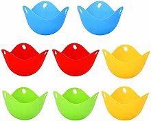 8pcs Silicone Egg Wickers, Egg Moulders for