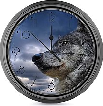 9.6 Inch Silent Round Wall Clock Battery Operated