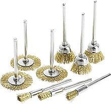 9 Brass Brush Wire Wheel Brushes Die Grinder