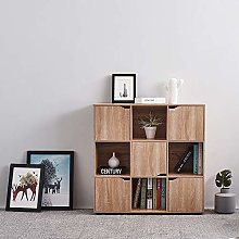 9 Cube Storage Unit Cabinet Wooden Cube Bookcase