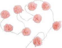9 LED Pink Pompom Fairy Lights L214