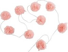 9 LED Pink Pompom Fairy Lights L214