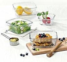 9 Piece Food Storage Container Set Glasslock