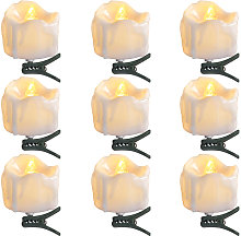 9 Pieces Candle Lights Christmas Tree Candles with
