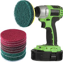 9 Pieces Scrub Pads 4 Inches Drill Power Brush