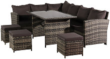 9 Seat Rattan Furniture Outdoor Sofa Dining Table