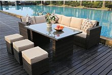 9 Seater Sectional Sofa Set Sol 72 Outdoor Frame