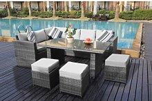 9 Seater Sectional Sofa Set Sol 72 Outdoor