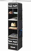 9-Shelf Hanging Wardrobe Storage Organiser With