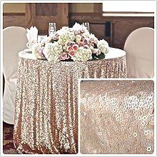90'' Round Sequin Tablecloth Wedding Cake