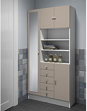 90 x 181.6 cm Free Standing Tall Bathroom Cabinet