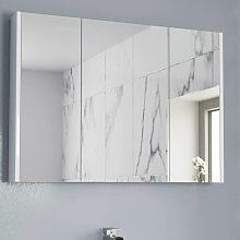 900mm Bathroom Mirror Cabinet Three Door Cupboard