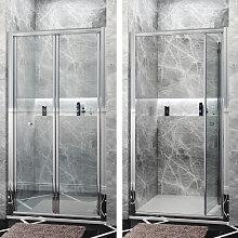 900mm Bi-Fold Shower Door Enclosure Glass