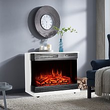 900W/1800W Electric Fireplace 3 LED Flame Timer