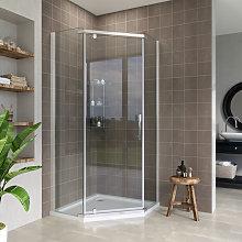 900x900mm Pivot Pentagonal Shower Enclosure