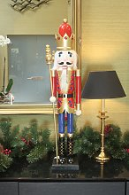 90cm Nutcracker with Crown & Sceptre