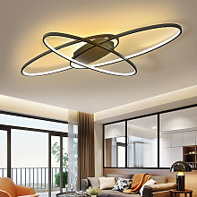 90CM Oval LED Chandelier Ceiling Light , Dimmable