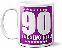 90TH Birthday F**King Hell Purple - White 15oz
