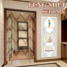 90x195 cm 41 Line Wooden Bead Chain Gate Curtain