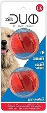 96286 - Zeus Duo Ball 6.3cm with Squeaker 2Pk