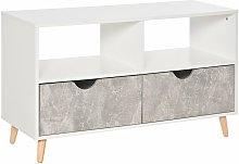 99cm TV Stand Media Unit Cabinet w/ Shelves